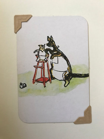 Kanga and Roo Pooh Greetings Card