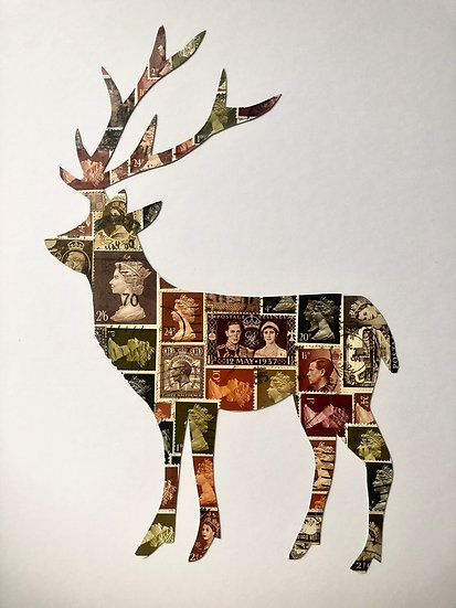 Stag Deer Vintage Stamp Picture