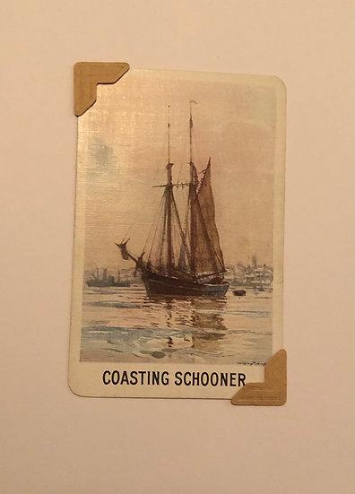 Coasting Schooner Greetings Card