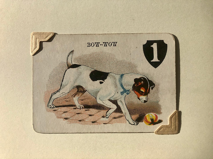 Jack Russell Victorian Greetings Card