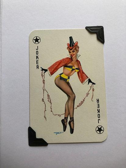 Pin Up Joker Greetings Card