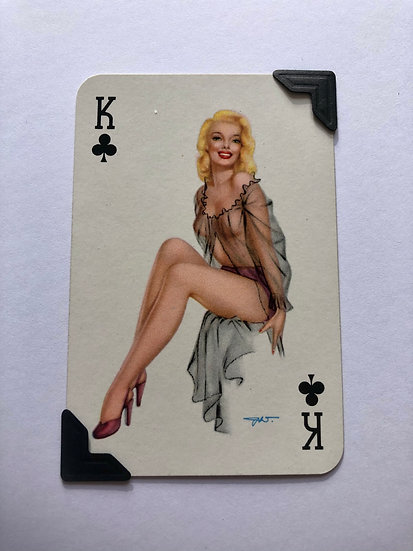 Pin Up King of Clubs Greetings Card