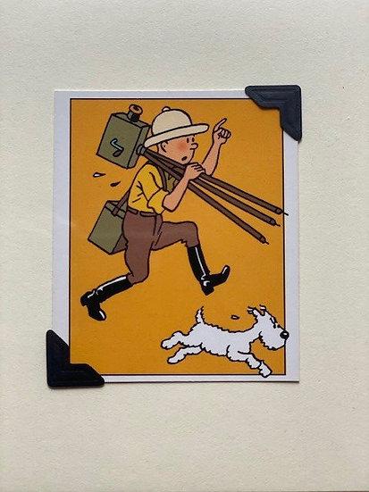 Tintin and Snowy Greetings Card