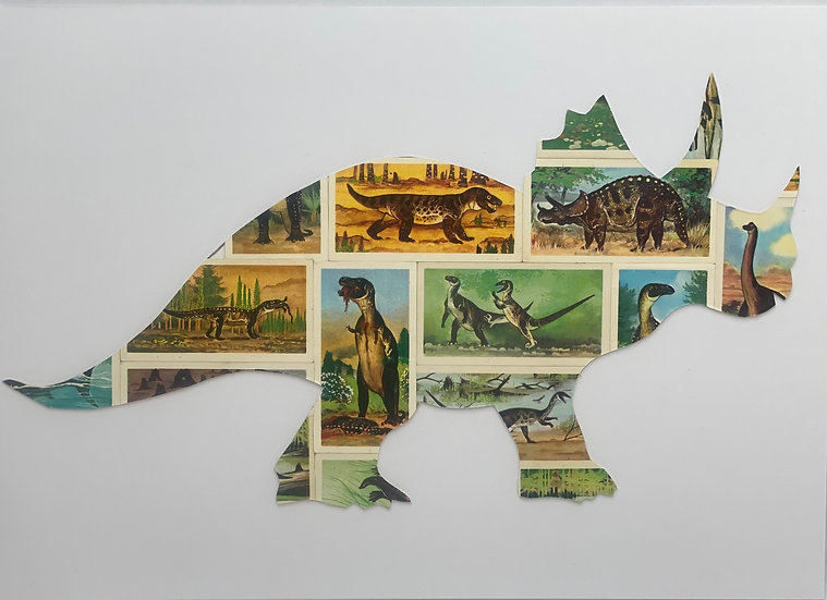 Triceratops Vintage Tea Cards Picture