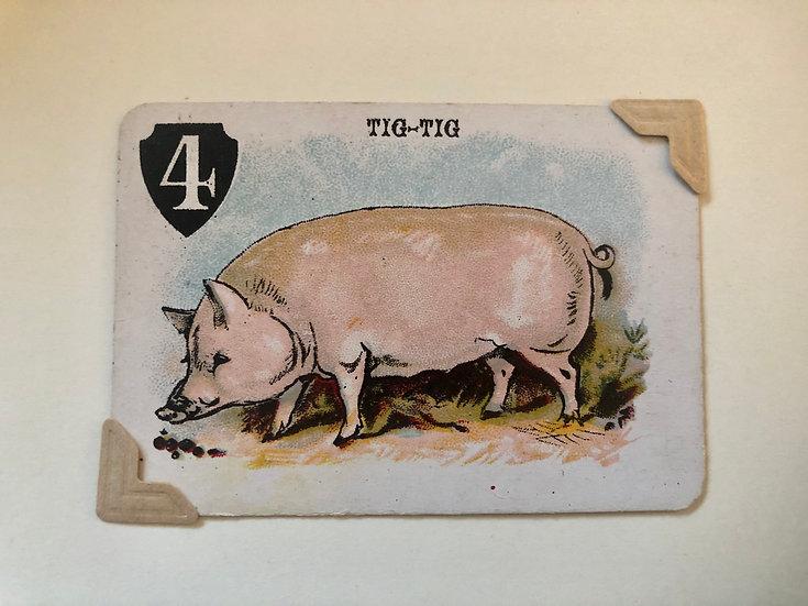 Pig Victorian Greetings Card