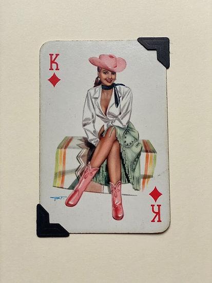 Darling King of Diamonds Greetings Card