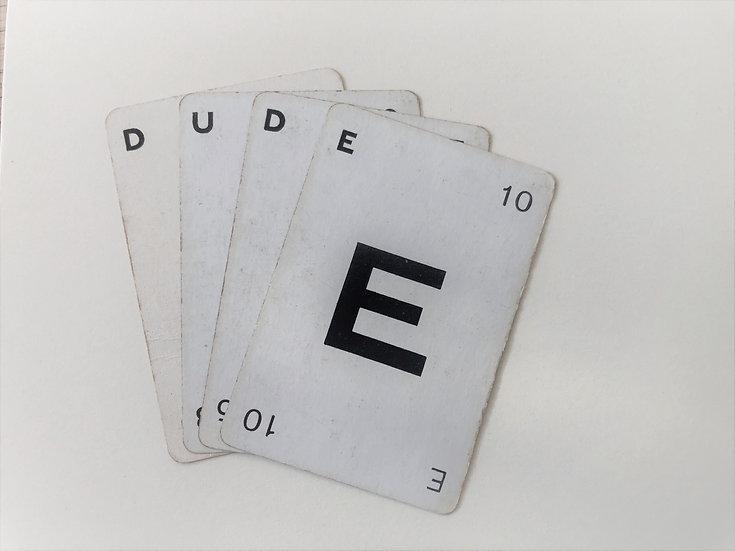 """""""Dude"""" Vintage Greetings Card"""