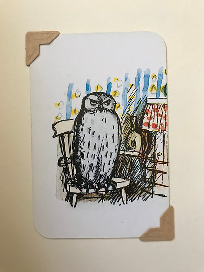 Owl Pooh Bear Greetings Card