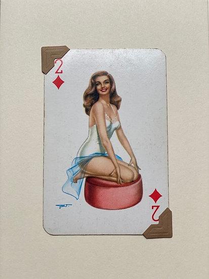 Darling Two of Diamonds Greetings Card