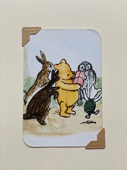 Pooh and Friends Greetings Card