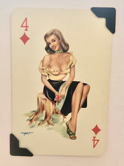 Darling Four of Diamonds Greetings Card