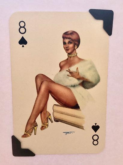 Darling Eight of Spades Greetings Card