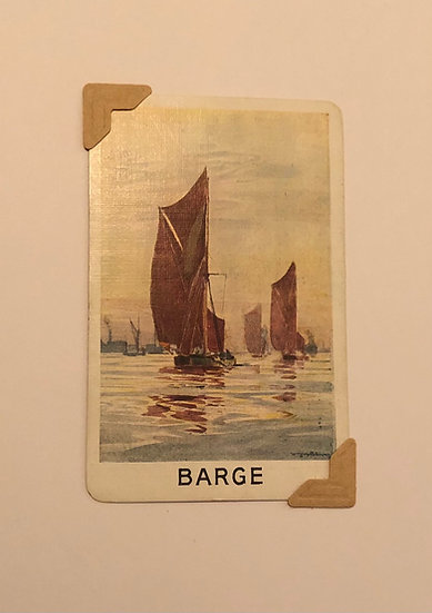 Barge Greetings Card