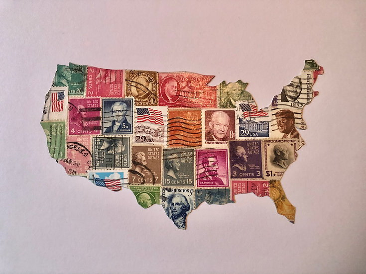 USA map - Presidents gone by