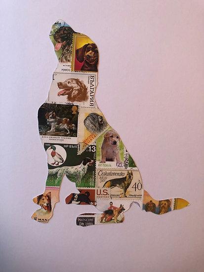 Postage Stamp Labrador Dog