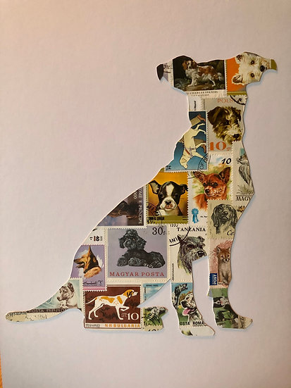 Postage Stamp Jack Russell Terrier