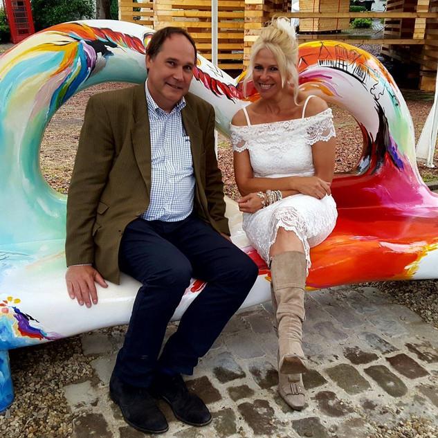 Met collega Paul Slangen