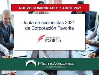 NUEVO Comunicado Corporación Favorita a sus accionistas