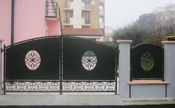 Cancello lamiera acciaio 01c