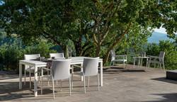 tavolo con sedie adam colore bianco