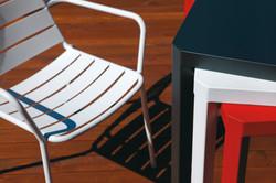 Oblique table + Havana armchair _web