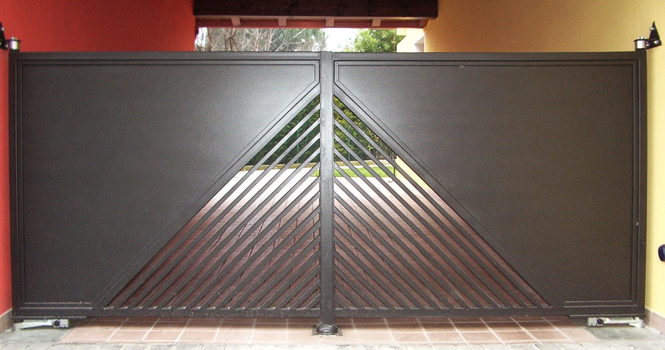 Cancello lamiera 18