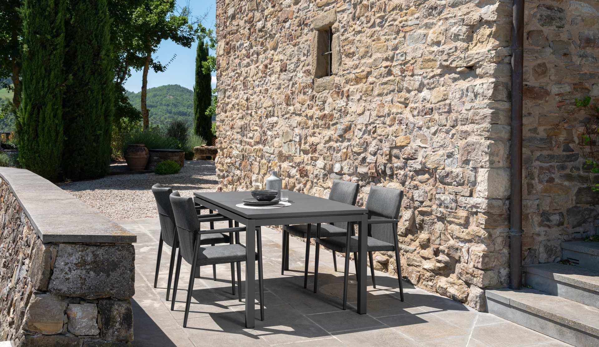 tavolo con sedie adam colore antracite