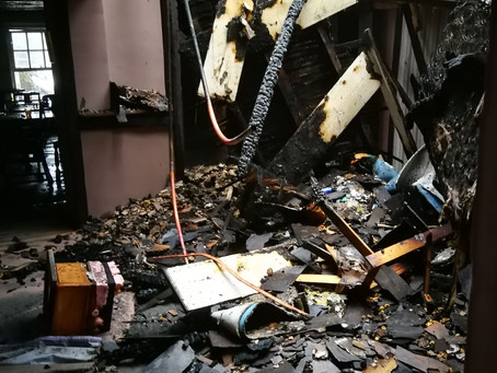 Photos reveal devastated interior of fire damaged 17th century pub
