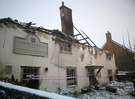 Fire at The Blackbirds Inn
