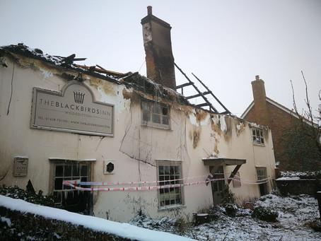 Fire at The Blackbirds Inn