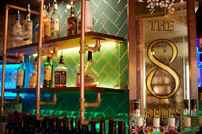 The bar at The Eight Bells, Saffron Walden