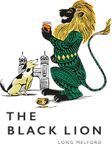 The Black Lion, Long Melford, logo