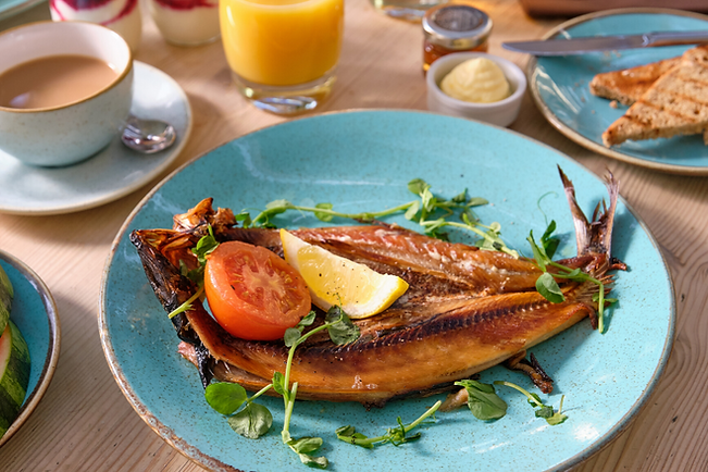Locally sourced seafood dishes