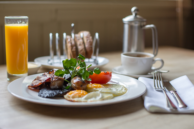 Breakfast served with our Delegate Packages