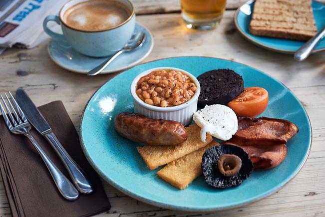 Scrumptious breakfast at The Ship, Dunwich