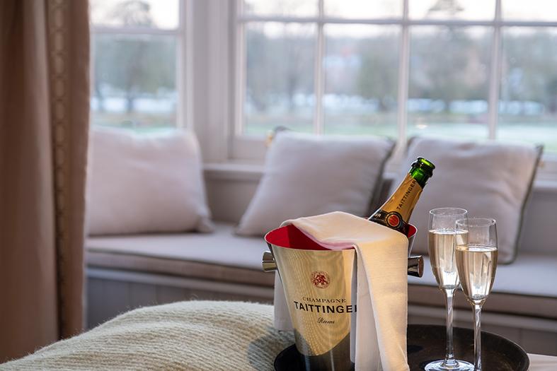 Enjoy champagne at The Black Lion