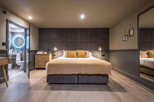 Double bed in The Barn
