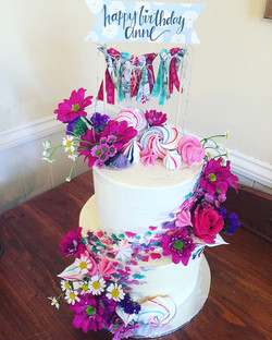 two tier floral bunting