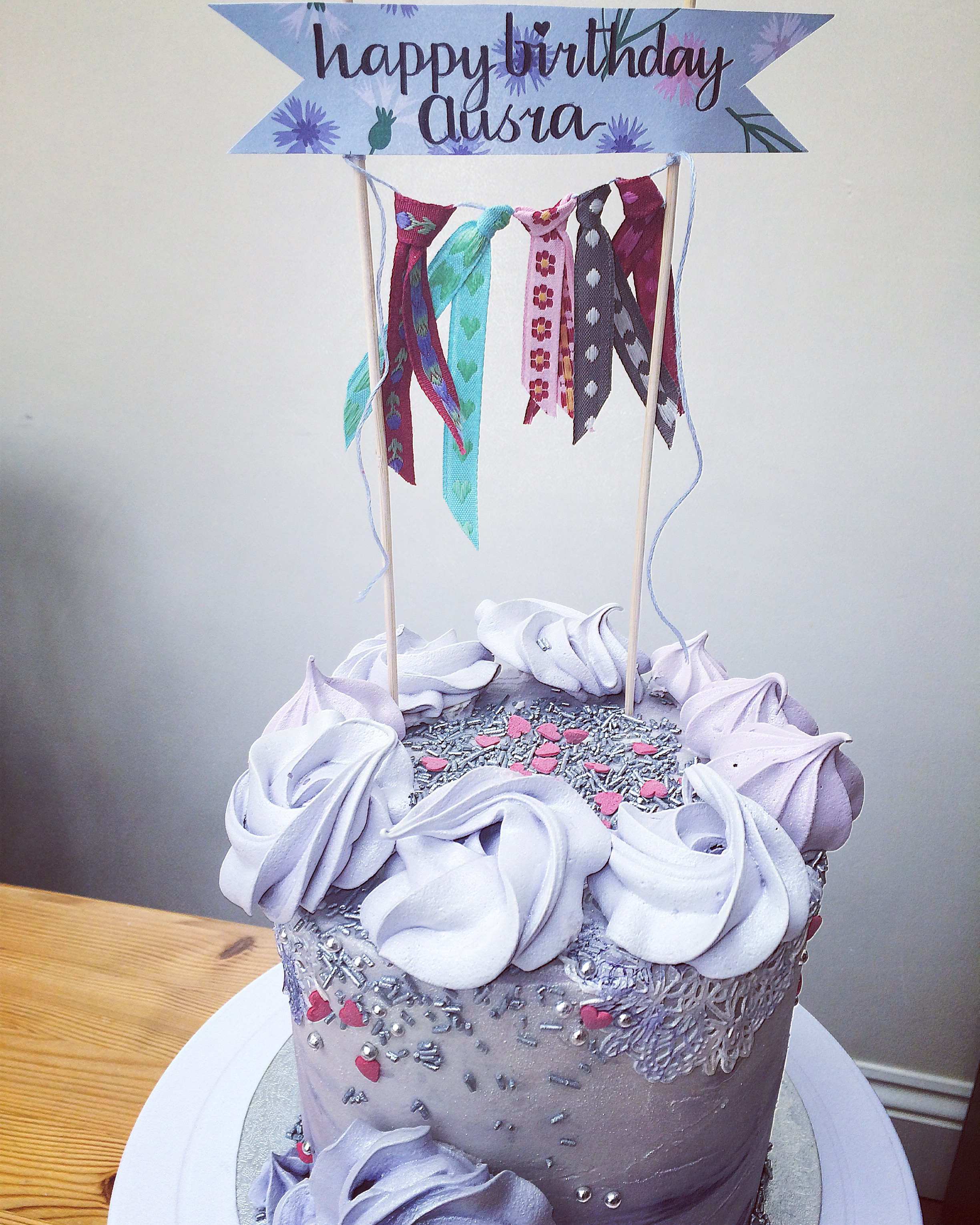 lilac bunting cake