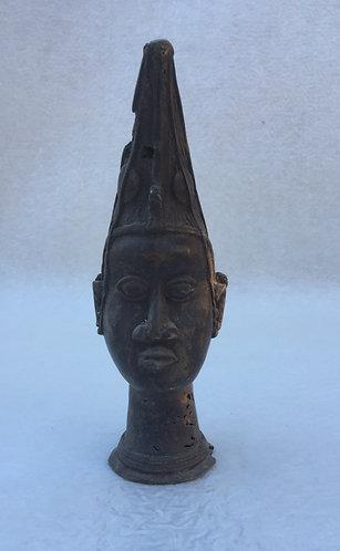 Antique African (Benin) Bronze Head