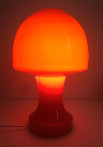 Italian Murano Glass Mushroom Table Lamp (1970s)