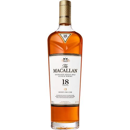 The Macallan 18 Year Old Single Malt Whisky (Sherry Oak)