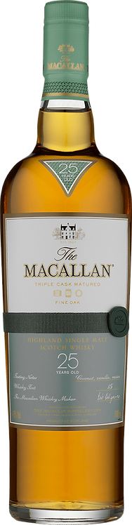 The Macallan 25 Year Old Single Malt Whisky (Fine Oak)