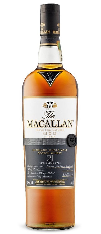 The Macallan 21 Year Old Single Malt Whisky (Fine Oak)