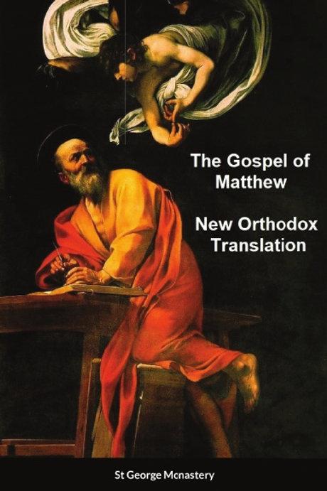 The Gospel of Matthew New Orthodox Translation x 5 Copies