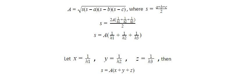 heron formula and triangle heights