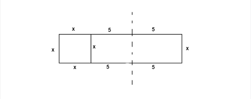 rectangle split into three parts