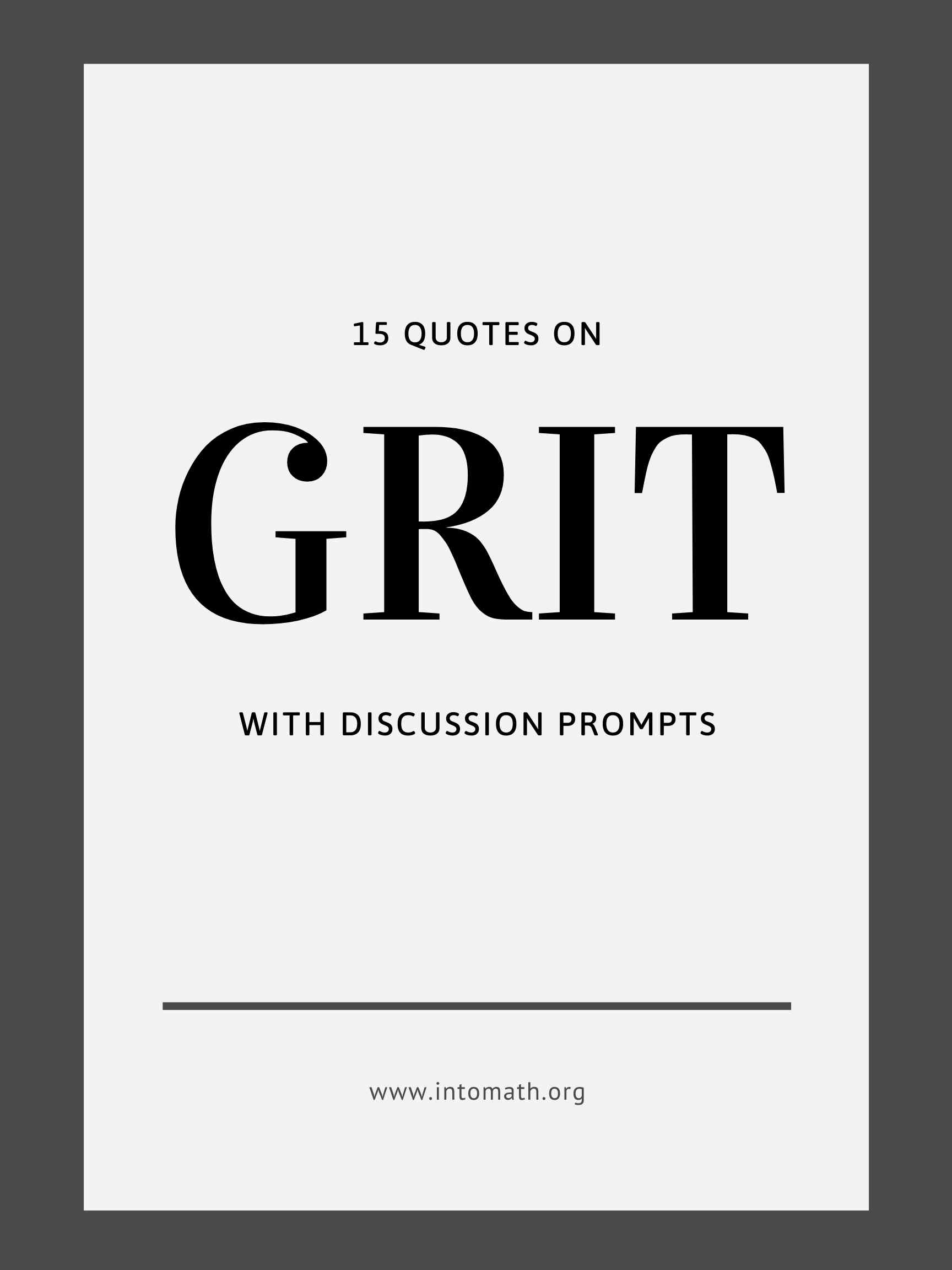 15 quotes on grit with discussion prompts free download
