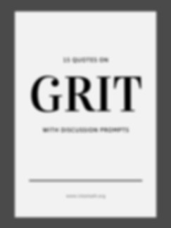 Grit Math Growth Mindset Quotes Package