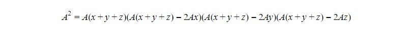 area squared triangle